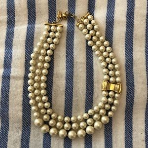 Kate Spade Triple Strand Moon River Pearl Necklace